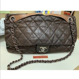 ❤️🔥❤️CHANEL QUILTED BROWN SHOULDER FLAP JUMBO